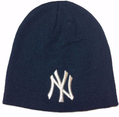 Official MLB New York Yankees Winter Navy Knitted Beanie Hat. New with tags