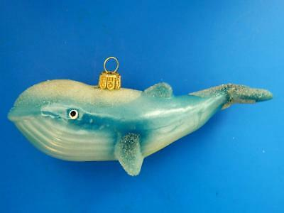 Tiger Whale European Blown Glass Christmas Tree Ornament Ocean