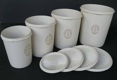 Tupperware Retro Canisters Set of 4