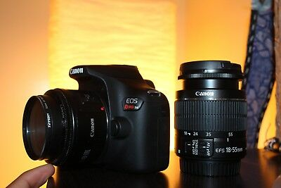 Canon EOS Rebel T6 DSLR Camera with 18-55mm II Lens and 50mm 1.8mm Lens