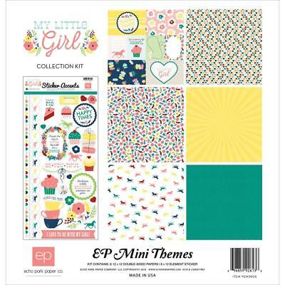 Echo Park ~ MY LITTLE GIRL ~ Mini Themes Collection Kit ~ 12x12