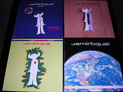 "4 Jamiroquai 12"" Singles Sleeves - Space Cowboy, Half The Man +2"