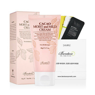 [Benton Cosmetic] Cacao Moist and Mild Cream 50g + Free Sample