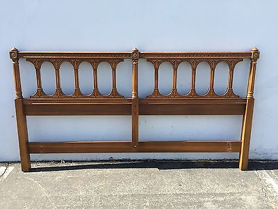 Headboard Regency Empire French Provincial Hollywood Glam King Bed Neoclassic