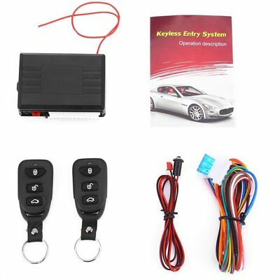 Universal Car Remote Central Kit Door Lock Vehicle Keyless Entry System LS