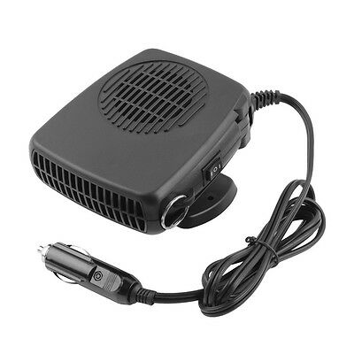 12V Portable Ceramic Heating Heater Fan Car Defroster Demister LS