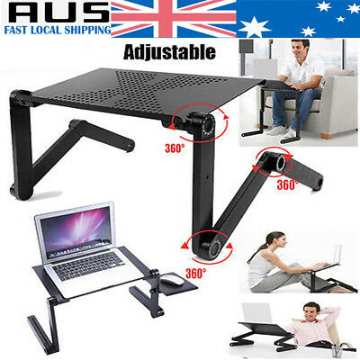Home Portable Laptop Computer TV Desk Notebook Stand Table Tray Mouse Holder Bed