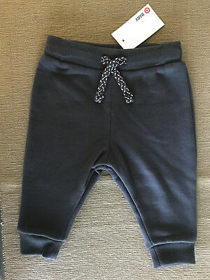 BNWT Baby Boys Size 000 Target Baby Grey Soft Stretch Track Pants Bottoms
