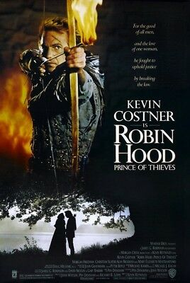 ROBIN HOOD PRINCE OF THIEVES MOVIE POSTER DS ORIGINAL VF 27x40 KEVIN COSTNER