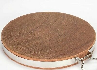 30cm Whole Piece Natural Hard Wood Cutting Chopping Hygienic Round Wooden Board