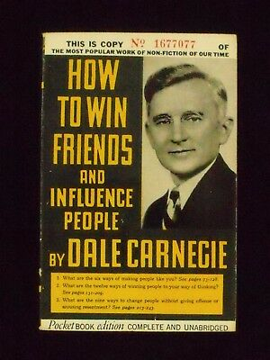 Pocket Book 68, HOW TO WIN FRIENDS AND INFLUENCE PEOPLE, Dale Carnegie, 1940