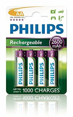 Philips MultiLife batterie NiMH AA Mignon 2600 mAh 4er Paquet