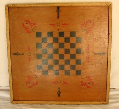 Antique Vintage Game Board, Checkerboard – DOUBLE SIDED Games,  Hand-Made