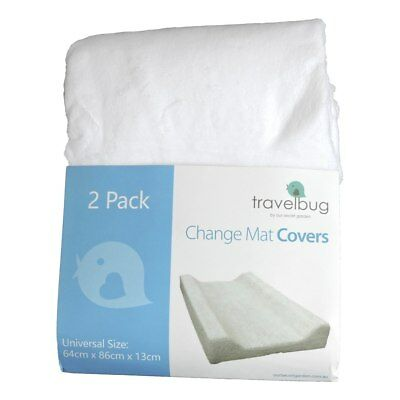 NEW Travel Bug Change Mat Covers 2 Pack - White from Baby Barn Discounts