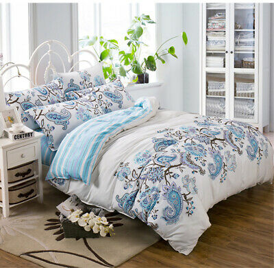 All Size Bed Quilt Duvet Doona Cover Set 100% Cotton Bedding European Pillowcase