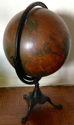 Antique World Globe On Stand