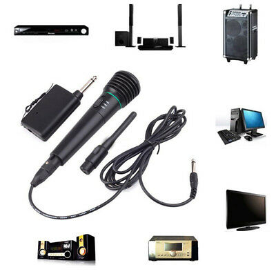 Wired or Wireless Mic Handheld Microphone 2in1 Receiver System Undirectional WM