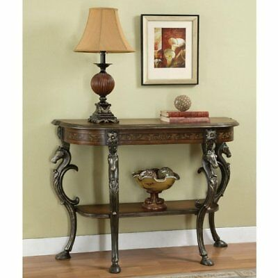 Powell Masterpiece Floral Demilune Console Table W/ Horse Head U0026 Hoofed Foot