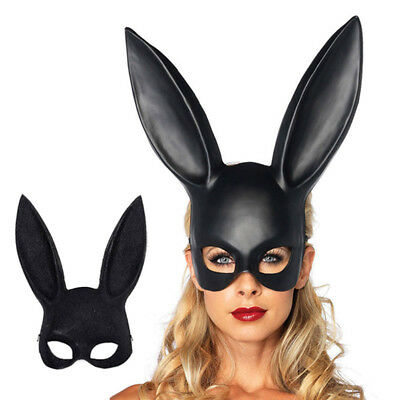 Masquerade Rabbit Mask Sexy Bunny Long Ears Carnival Xmas Party Costume Props