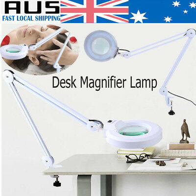 Magnifying Desk Clamp Lamp Light 5 Diopter Beauty Salon Skincare SPA Equipment