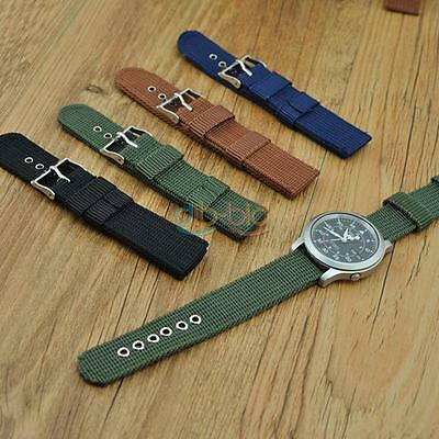 Men Playful Infantry Military Wrist Army Nylon Canvas Strap Band for Watch DQ UK