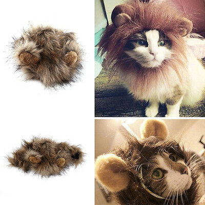 Pet Costume Lion Mane Wig for Cat Dog Halloween Christmas Party Dress Up 35cm#H