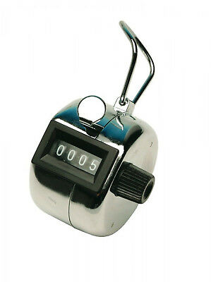 Tally Counter, Four Digit For Accurate Tallying, One Button Operation - Chrome