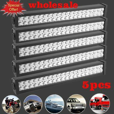 5X 22Inch LED Light Bar Spot Flood 7D ATV SUV Offroad 4WD Work Driving Lamps FHG