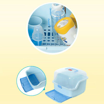 Baby Bottle Drying Rack and Dishwasher Cutlery storage box with waterproof lid