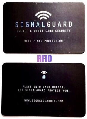 RFID Credit Card Wireless Illegal Blocker ( PLACE IN WALLET PROTECTS ALL CARDS )