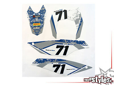 Startnummernfelder Dekor backgrounds f. KTM 690 SMC-R / ENDURO 2008-2017 plates