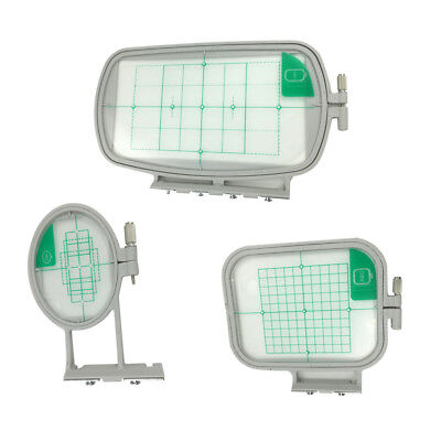 3x Assorted Embroidery Hoops Frame with Grid for Brother Embroidery Machine