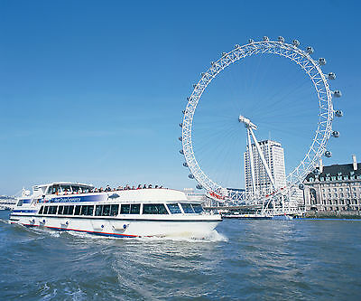 London Eye Ride & Thames River Boat Cruise for Two - includes 3 Course Lunch