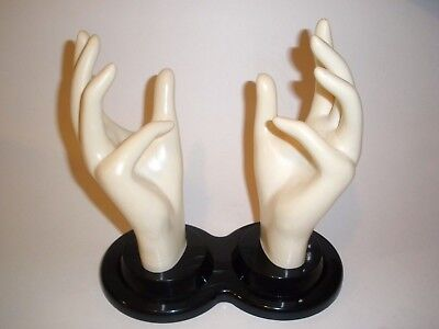 Vintage E & B GIFTWARE DOUBLE HAND MANNEQUIN Display Store Shop Retro