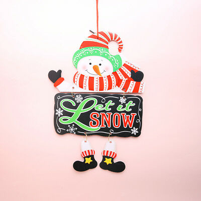 Merry Christmas Foam Plaque Santa/Tree/Snowman Shaped Hanging Ornament