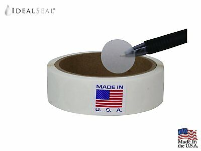 "1"" Diameter Easy Peal Wafer Seals Round Circle 500 Labels Dispenser Box"