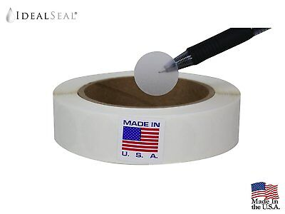 Wafer Tab Seal, 1 inch Diameter, Translucent, Great to seal Folded Self-Mailers