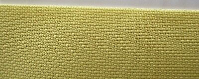 ZWEIGART 14 count AIDA Cross Stitch Fabric   Yellow   12 inches x 10 inches