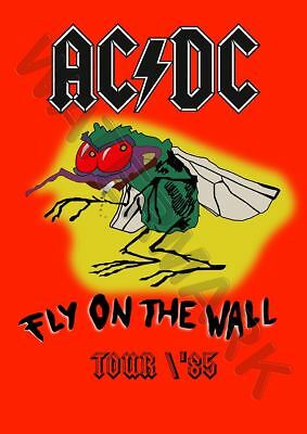 Ac Dc Tour Poster 1985 Fly On The Wall A3 Art Print Photo Poster Gz6006