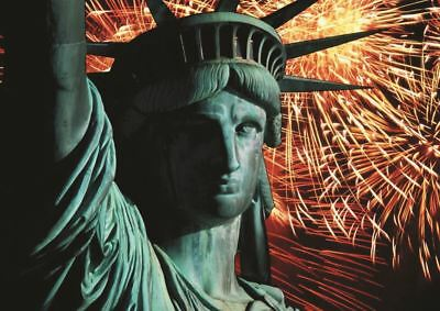 Statue Of Liberty Fireworks 4Th July A3 Poster Gz360