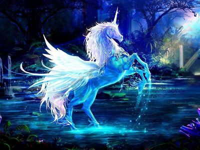 Beautiful Unicorn Fantasy Horse Large Art Print Poster Lfgz0018
