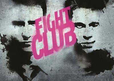 Fight Club Brad Pitt Art Movie Print Art Poster Picture A3 Size Gz1571