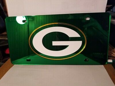 NFL Green Bay Packers Laser License Plate Tag - Green