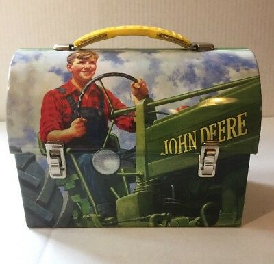 John Deere Retro Lunchbox Mini Tin Box. USED