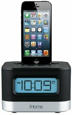 iHome iPL10 Dual Charging Stereo FM Clock Radio with Lightning Dock For iP..