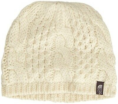 NEW The North Face Cable Knit Minna Beanie Vintage White RRP £24.99