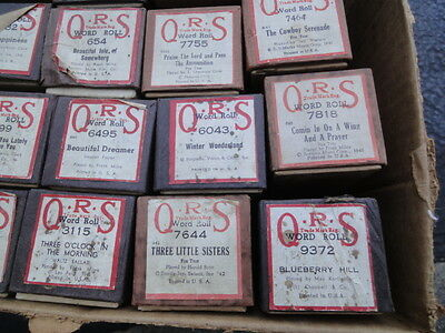 Vintage Antique QRS Player Piano Word Rolls Lot of 24 Waltz Ballard Fox Trot