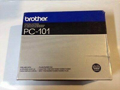 Genuine BROTHER PC-101 Black Thermal Transfer Fax Print Cartridge with Ribbon