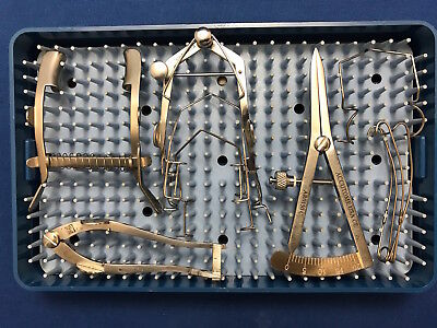 Pilling, Accutome Lid Speculum & Caliper Set of 9 with Case