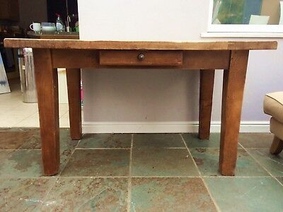 Stunning Solid Oak French Farmhouse Harvest Table by Antix
